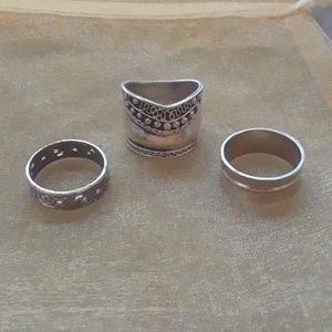 Jewelry - 3 Sterling silver rings